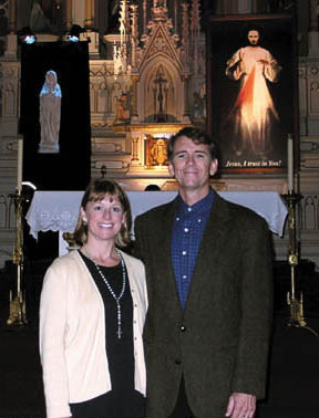 Married couple Joan and Dave Maroney - who make up MOMM - travel across North America to bring the Divine Mercy message to schools and parishes.