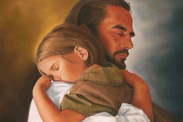 Image result for snuggling with Jesus