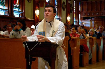 Fr Anthony Gramlich at the National Shrine of Divine Mercy