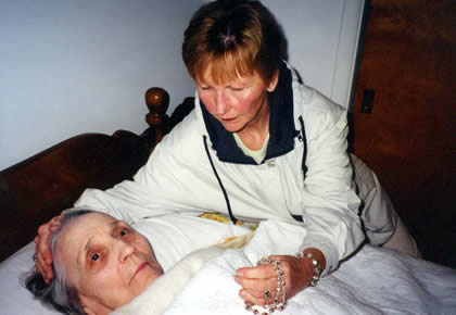 Kay P. and her ailing mother, Rita.