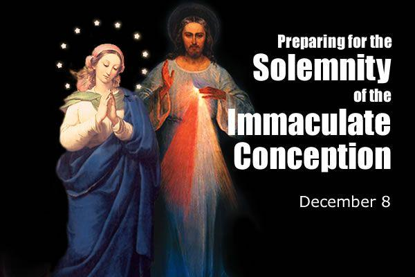 Preparing for the Solemnity of the Immaculate Conception, Dec. 8 | The  Divine Mercy